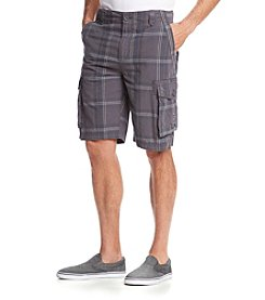 Ruff Hewn Men's Plaid Cargo Shorts