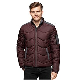 Calvin Klein Jeans® Men's Quilted Stand Collar Puffer Coat