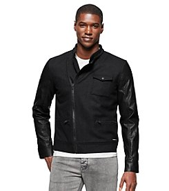 Calvin Klein Jeans® Men's Urban Military Mixed Media Jacket