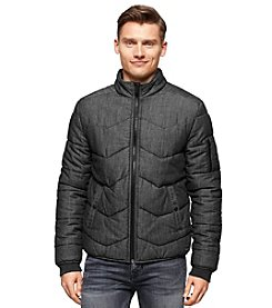 Calvin Klein Jeans Men's Quilted Stand Collar Puffer Coat