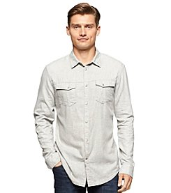 Calvin Klein Jeans Men's Long Sleeve Brushed Twill Button Down
