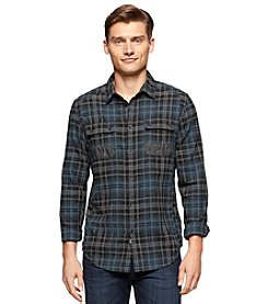 Calvin Klein Jeans® Men's Long Sleeve Brushed Twill Plaid Button Down