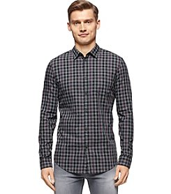 Calvin Klein Jeans Men's Long Sleeve Brushed Twill Button Check Down