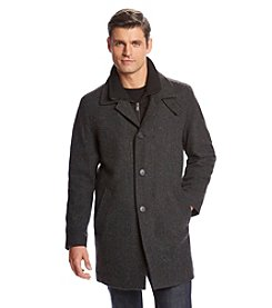 Calvin Klein Men's Herringbone Topcoat