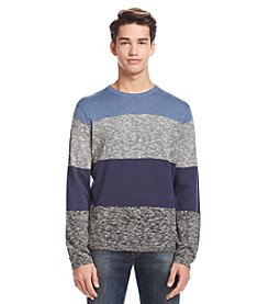 DKNY JEANS® Men's Crewneck Bold Stripe Marl Sweater