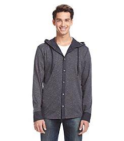 DKNY JEANS® Men's Long Sleeve Slub Jaquard Hoodie Tee