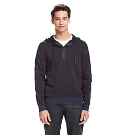 DKNY JEANS® Men's Long Sleeve Jasper Hooded Henley