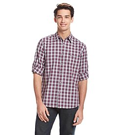 DKNY® JEANS Men's Long Sleeve Roll Tab Slub Houndstooth Button Down