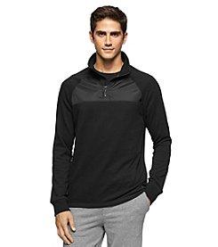 Calvin Klein Jeans® Men's 1/4 Zip Mixed Media Pullover