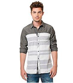 Buffalo by David Bitton Men's Long Sleeve Sahup Denim Striped Button Down Shirt