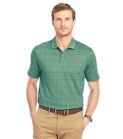 Van Heusen® Men's Short Sleeve Windowpane Polo