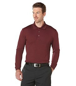 PGA TOUR® Men's Long Sleeve Solid Airflux Polo