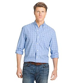 Izod® Men's Long Sleeve Windowpane Plaid Button Down