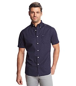 Le Tigre Men's Short Sleeve Printed Button Down