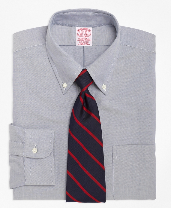 Traditional Fit Button-Down Collar Dress Shirt Blue