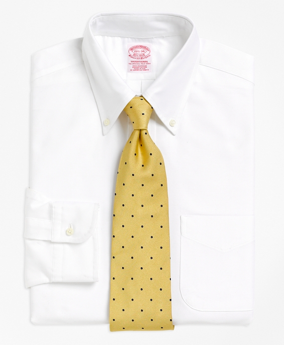 Traditional Fit Button-Down Collar Dress Shirt White