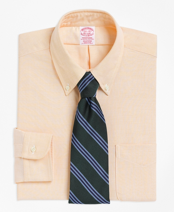 Traditional Fit Button-Down Collar Dress Shirt Yellow
