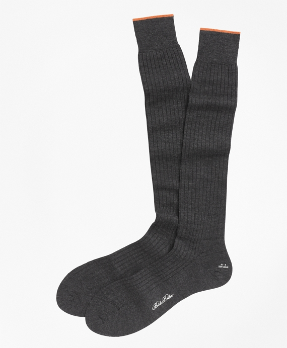 Merino Wool Golden Fleece® Sized Over-the-Calf Socks Grey