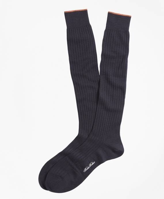 Merino Wool Golden Fleece® Sized Over-the-Calf Socks Navy