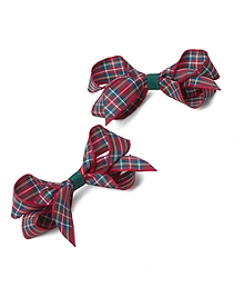 Two-Pack Small Tartan Bow