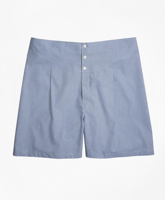 Tie Back Boxers Blue
