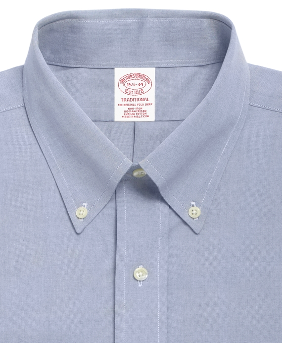Men 39 s non iron traditional fit button down collar dress for What is a non iron shirt