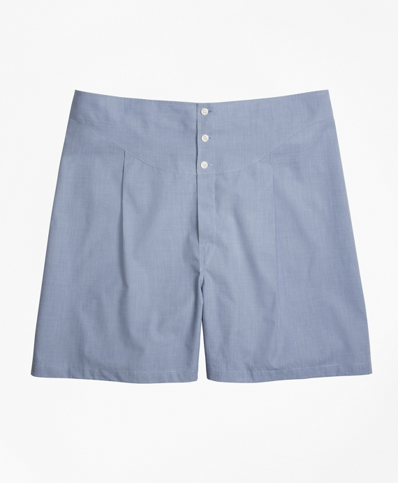 French Back Boxers Blue