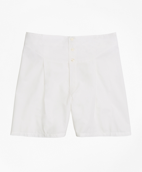 French Back Boxers White