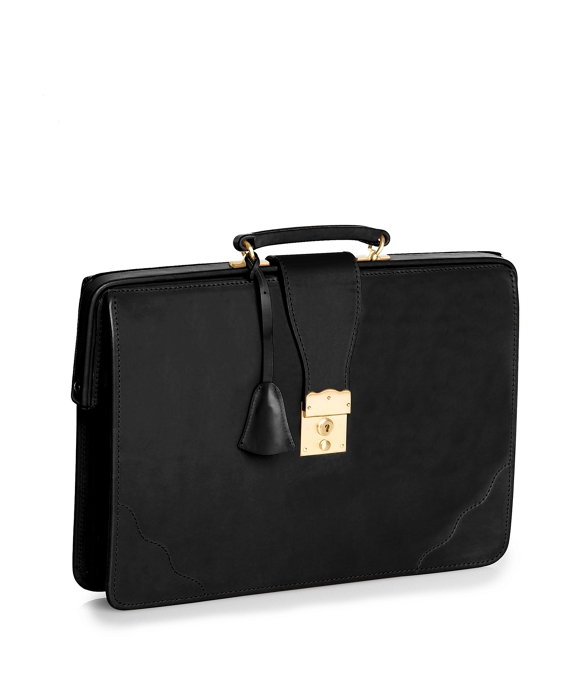 Peal & Co.® Top Frame Briefcase Black