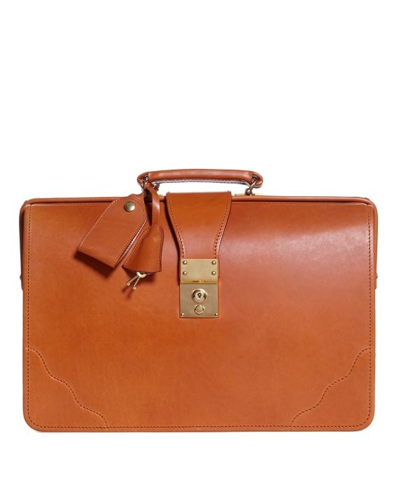 Peal & Co.® Top Frame Briefcase Tan
