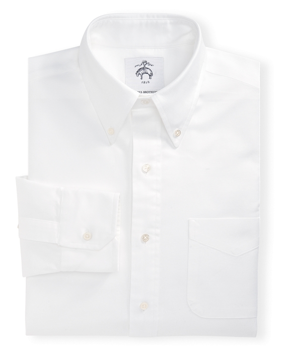 Black Fleece Button-Down Oxford Shirt White