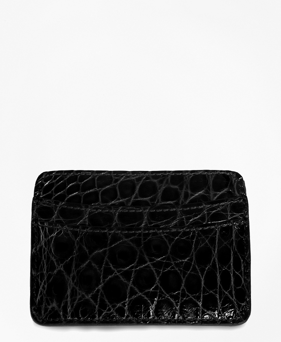 American Alligator Card Case Black
