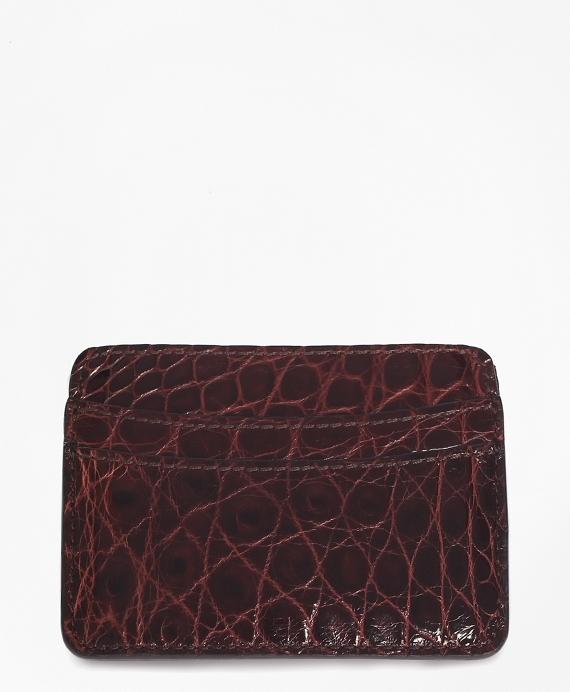American Alligator Card Case Brown