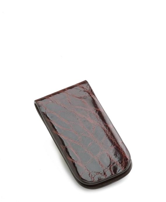 American Alligator Money Clip Brown
