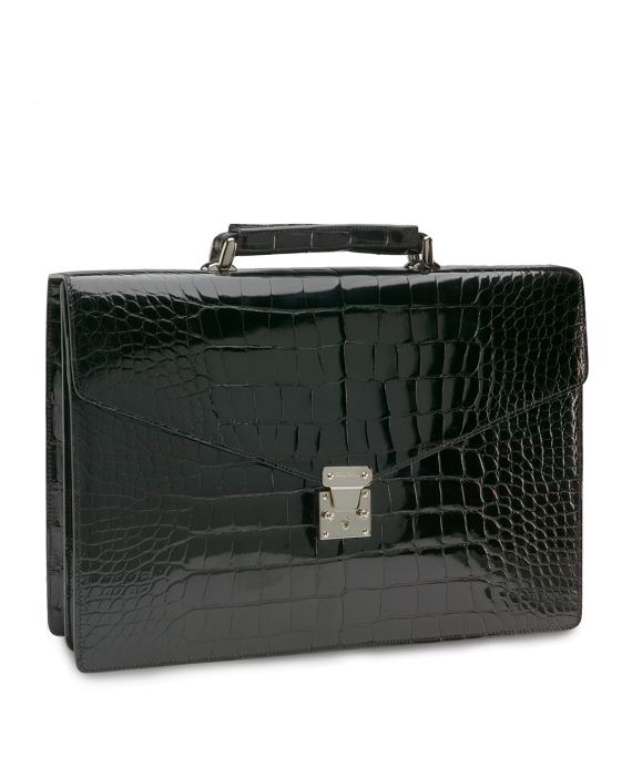 Alligator Billfold Briefcase Black