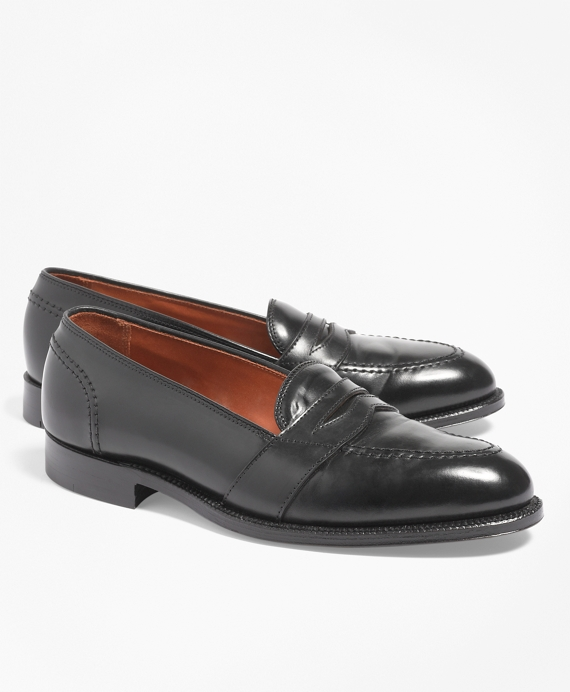 Cordovan Low Vamp Loafers Black
