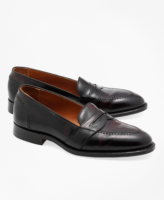 Cordovan Low Vamp Loafers Burgundy