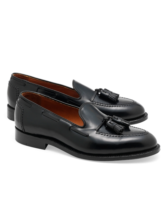Cordovan Tassel Loafers Black