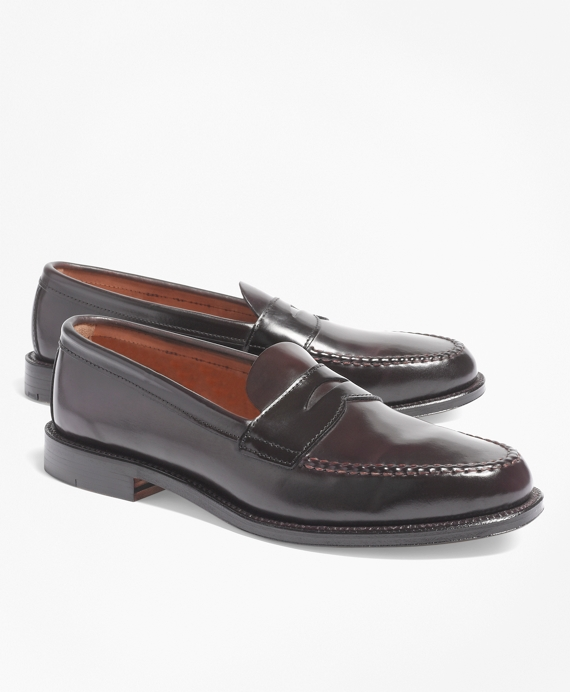 Cordovan Unlined Penny Loafers Burgundy