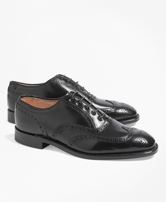Cordovan Leather Wingtips Black