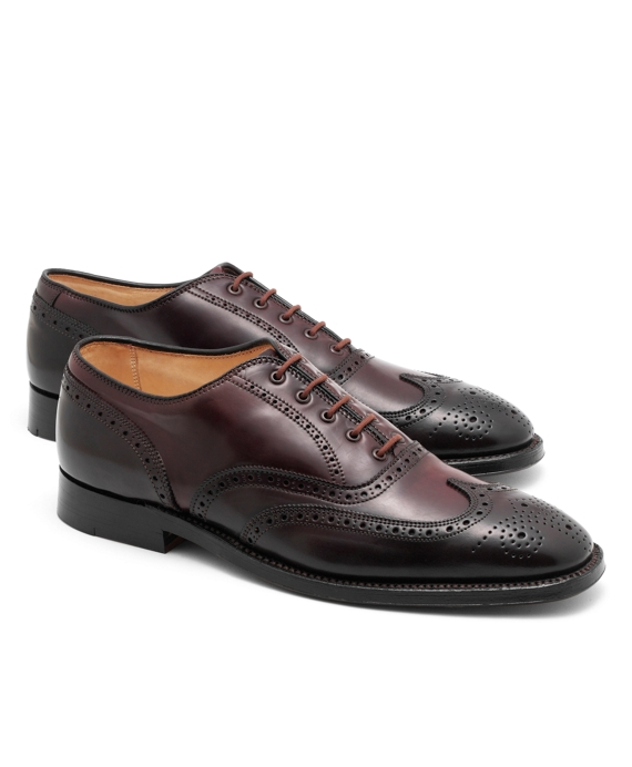 Cordovan Leather Wingtips Burgundy