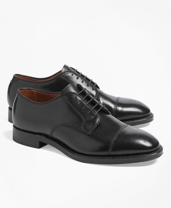 Cordovan Leather Straight Tips Black