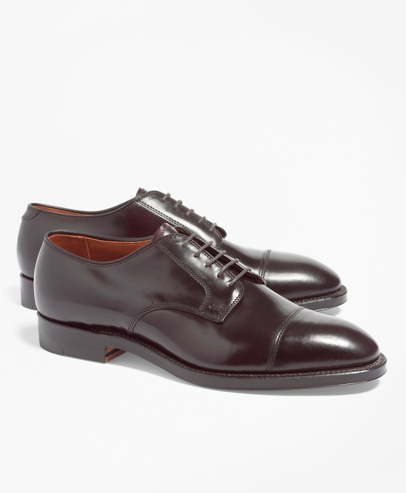 Cordovan Leather Straight Tips Burgundy