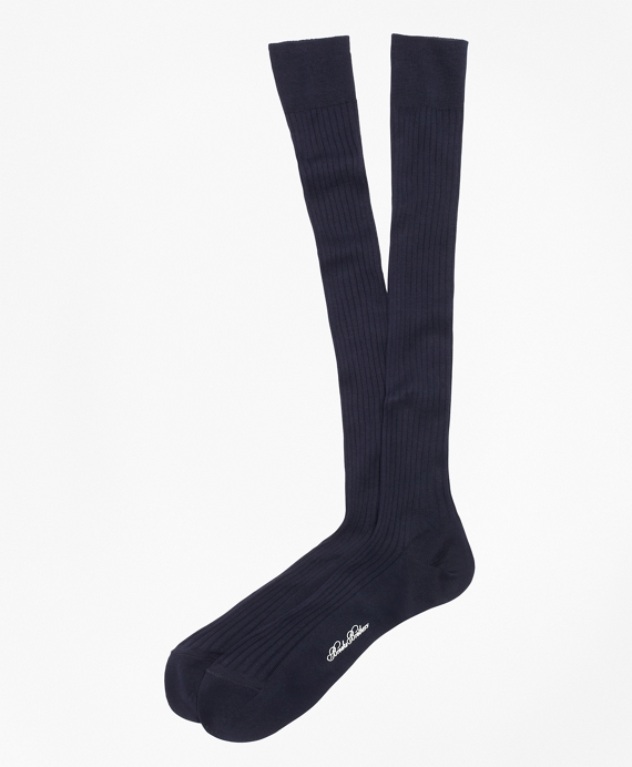Pima Sized Over-the-Calf Socks Navy