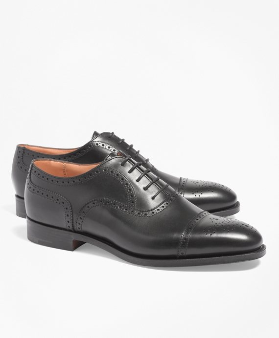 Peal & Co.® Medallion Perforated Captoes Black