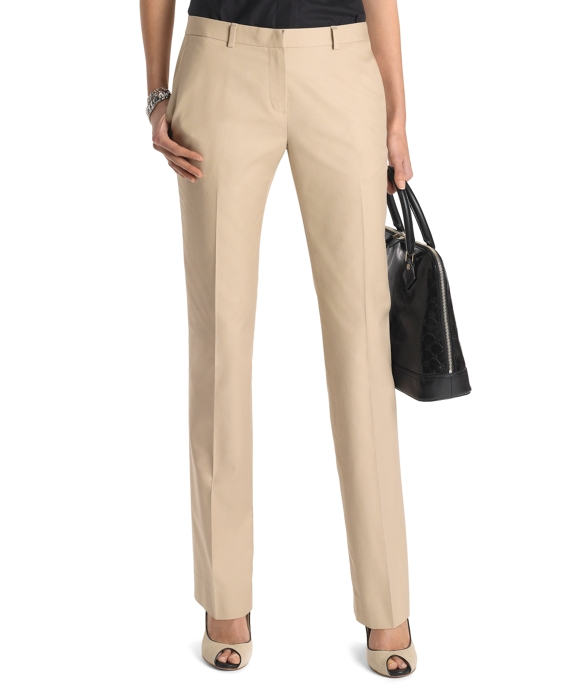 Women's Plain-Front Non-Iron Chinos | Brooks Brothers