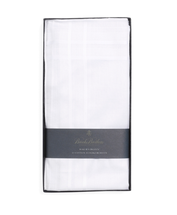 Pure Cotton Handkerchiefs - 13pk White