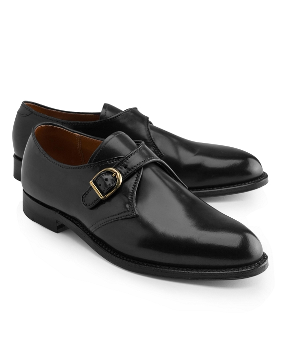 Cordovan Leather Monk Straps Black