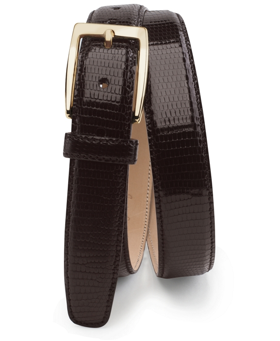 Genuine Lizard Belt Brown