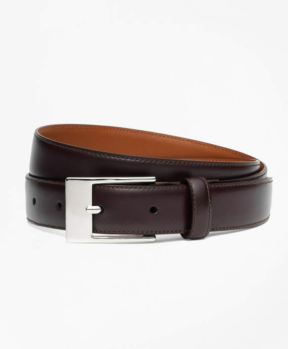 Classic Leather Belt Burgundy
